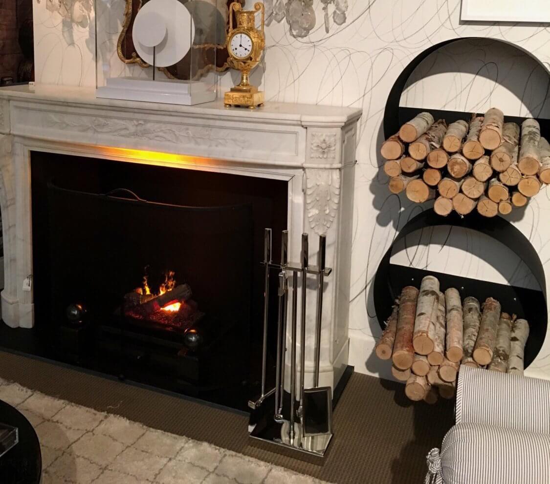 Round Wall Mounted Log Rack