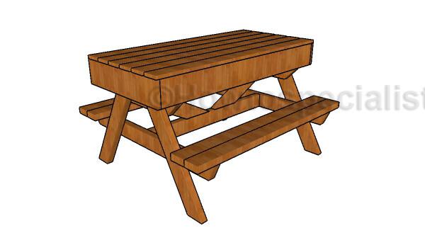 Sandbox Kids Picnic Table Plans