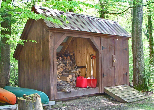 Shed With Attached Firewood Storage