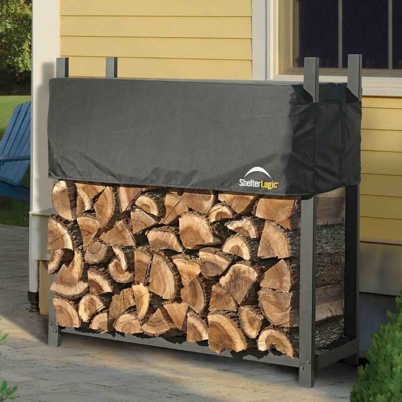 Steel Firewood Rack With Cover