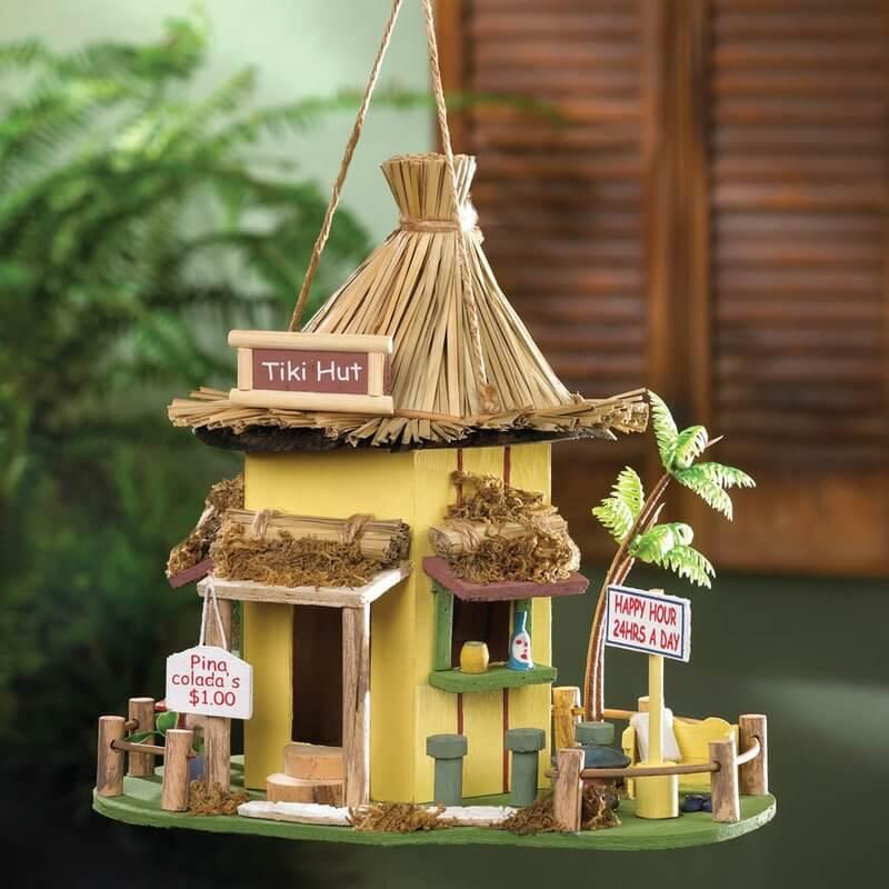 Tiki Hut Bird Houses