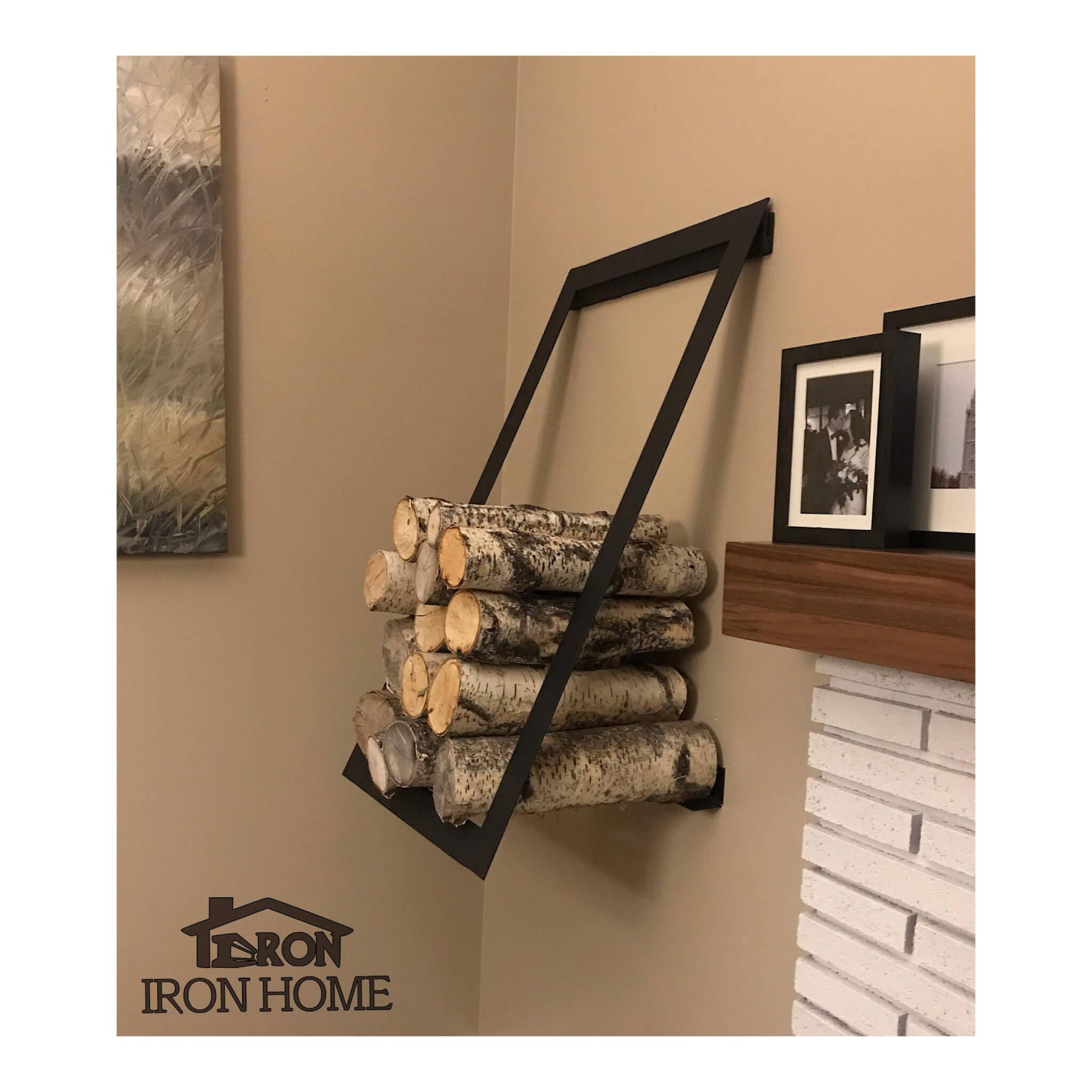 Wall Mounted Firewood Rack