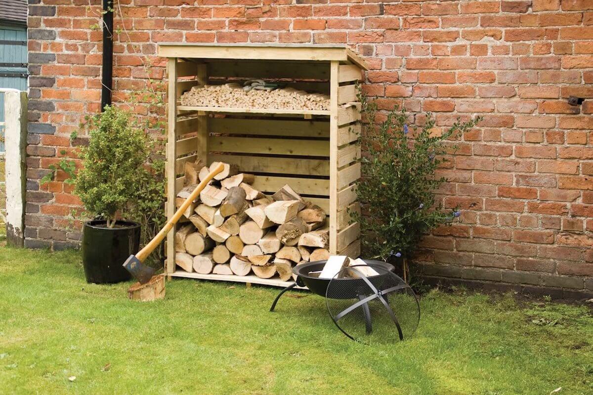 Wood Log Storage Shed