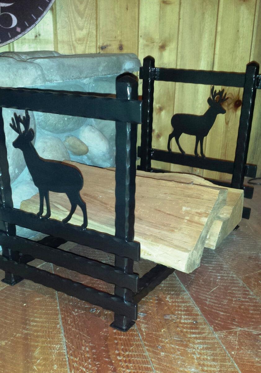 Wrought Iron Wildlife Firewood Holder