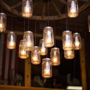 mason jar DIY chandelier