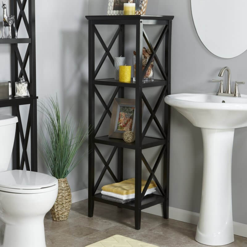 Bathroom Shelves With Cross Sides