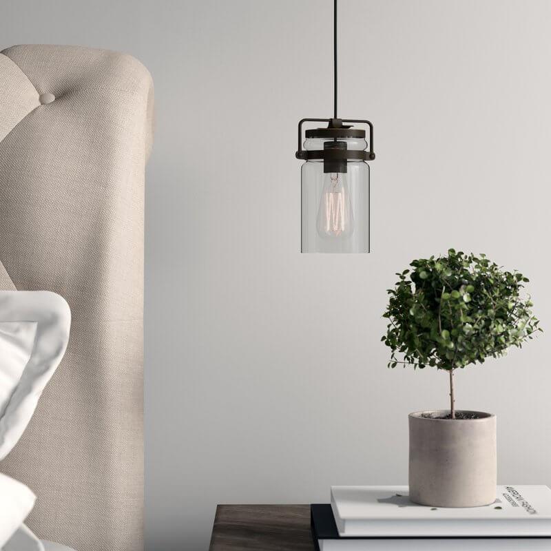 Bedside Cylinder Light Pendant
