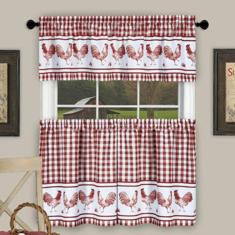 Chicken Kitchen Curtains