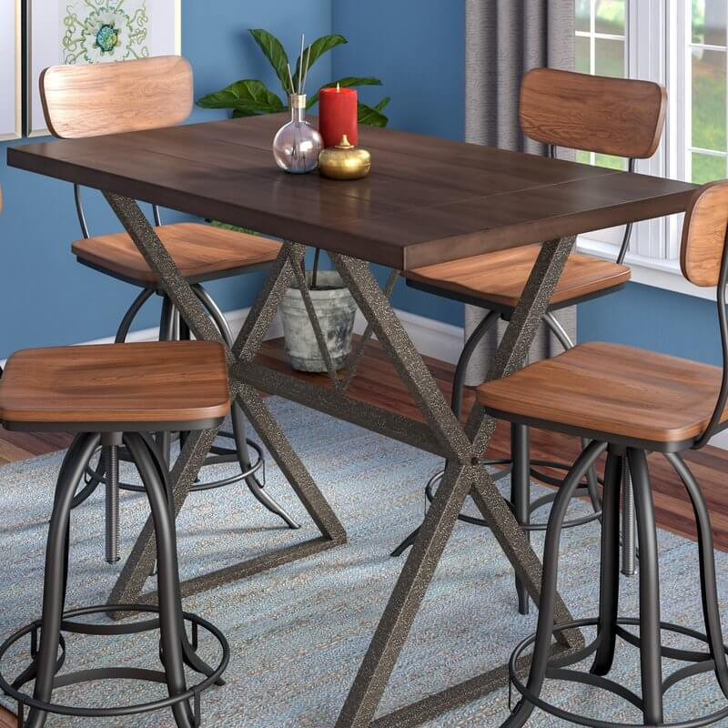 Counter Height Iron Kitchen Table