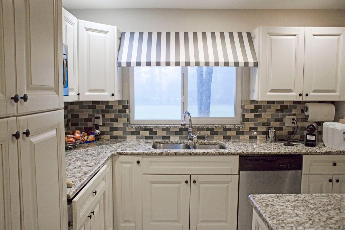 Custom Indoor Awning Kitchen Curtains