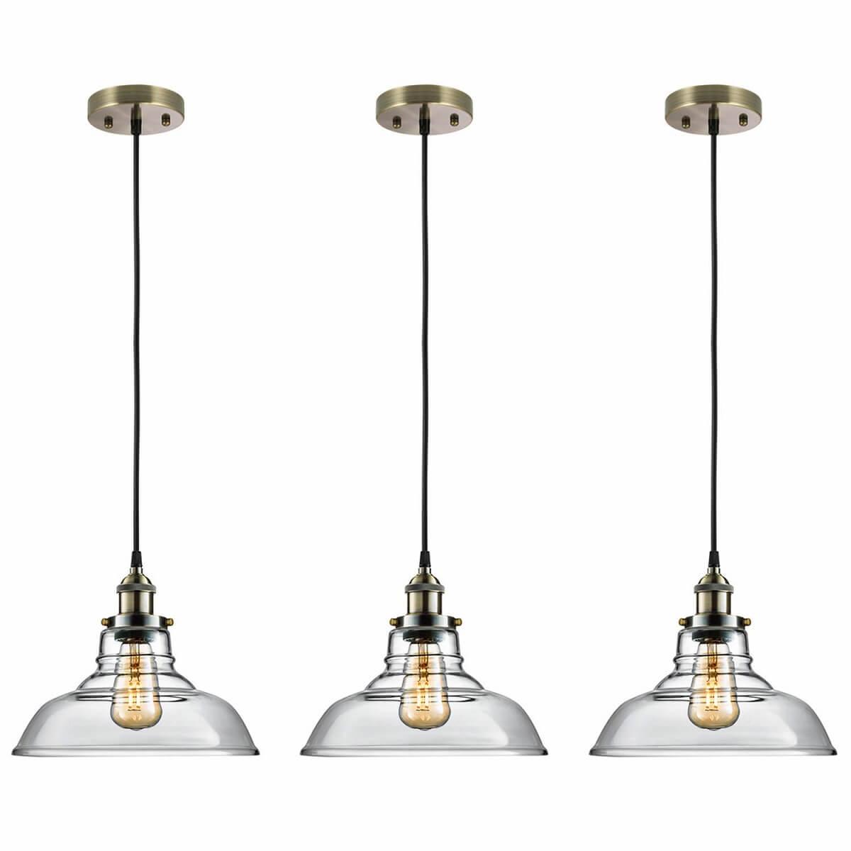 Edison Bulb Glass Pendant Light