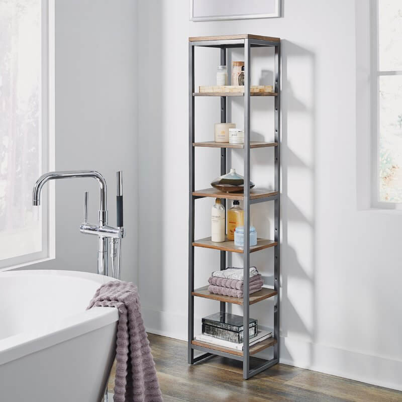 Industrial Style Bathroom Shelf