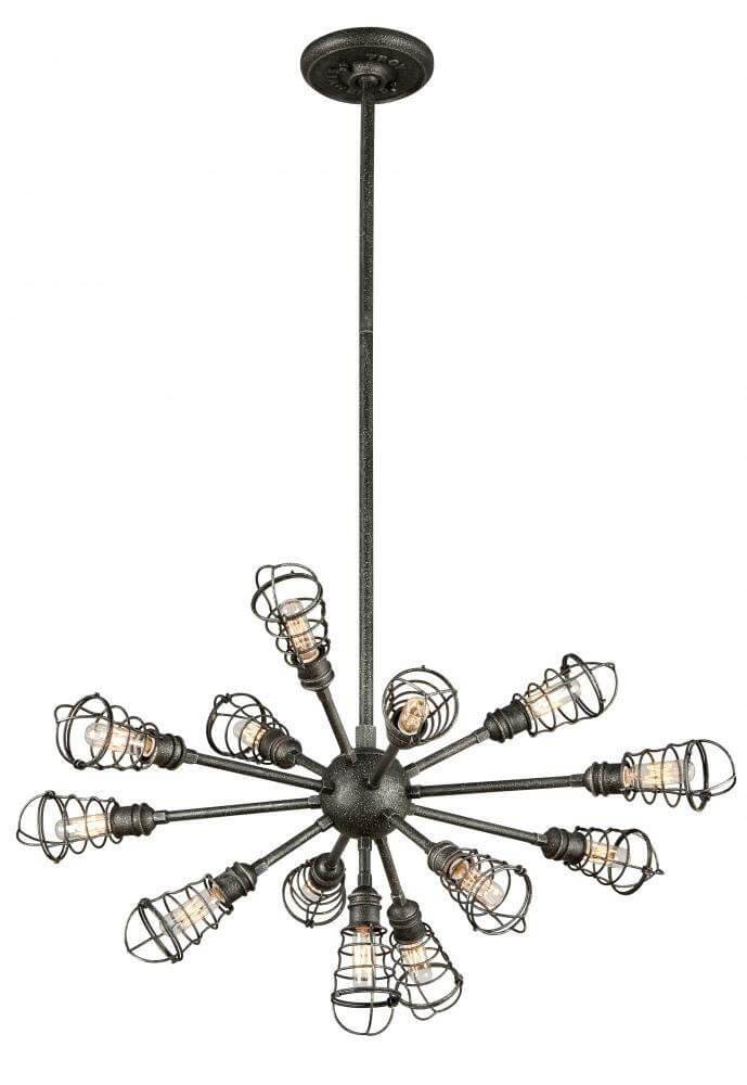 Industrial Style Caged Pendant Light