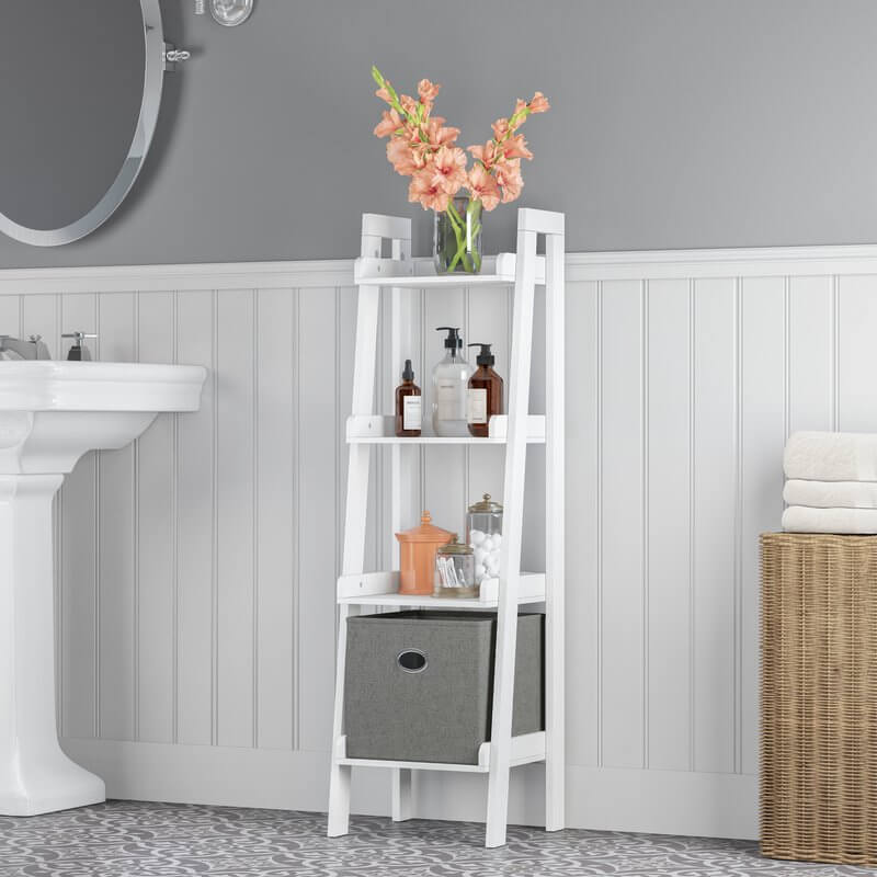 Ladder Style Bathroom Shelves