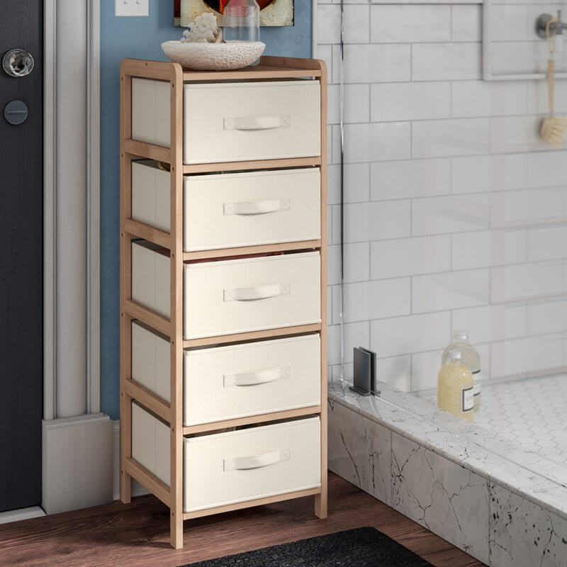 Linen Tower Bathroom Shelves