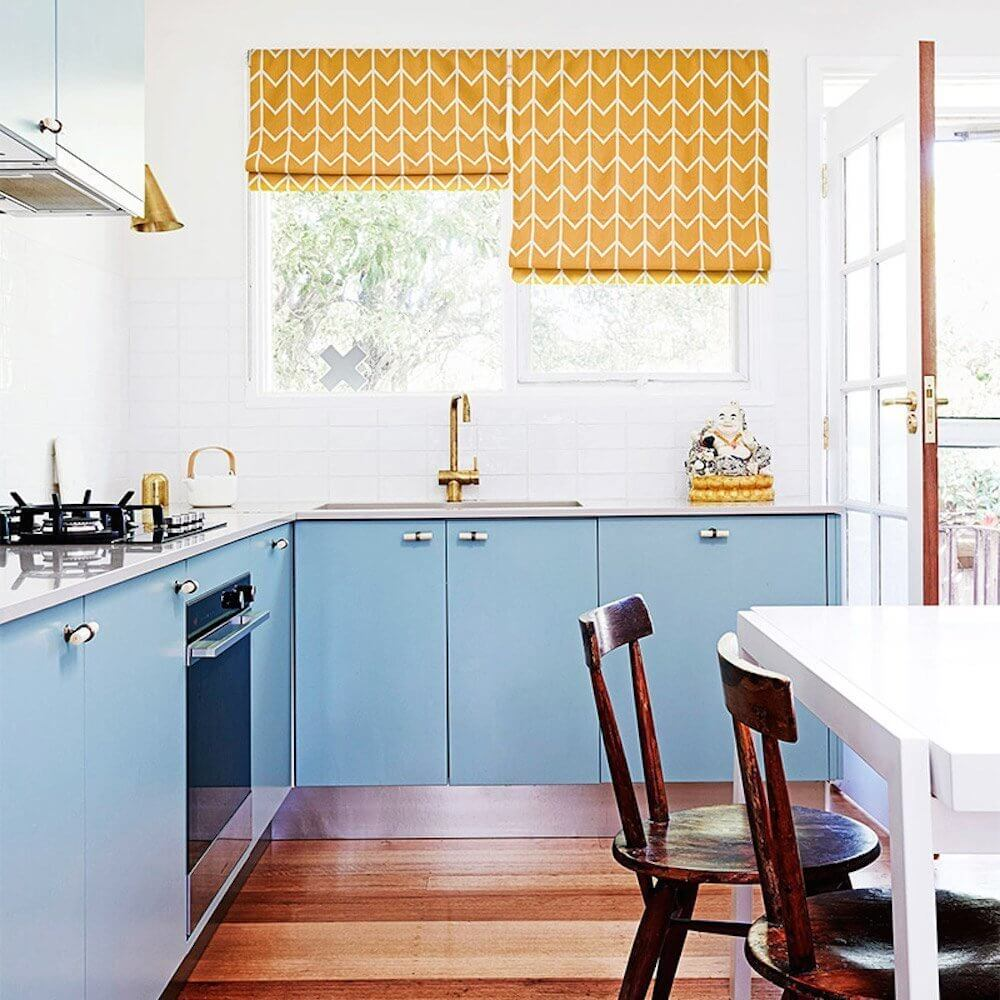 Orange Kitchen Roman Curtains
