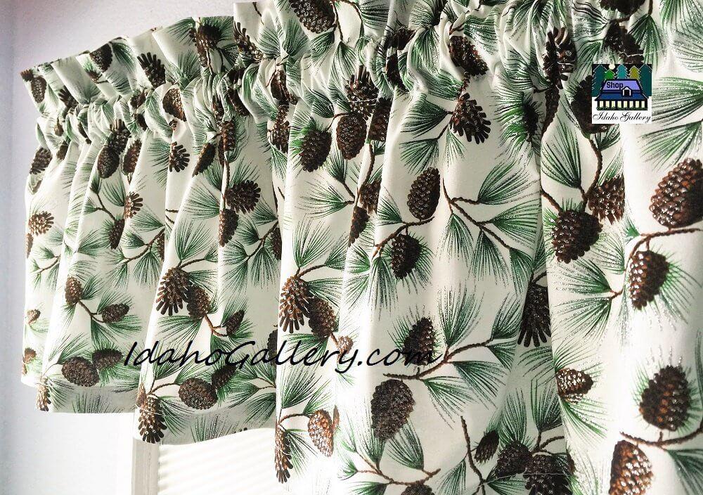 Pine Cone Kitchen Curtains