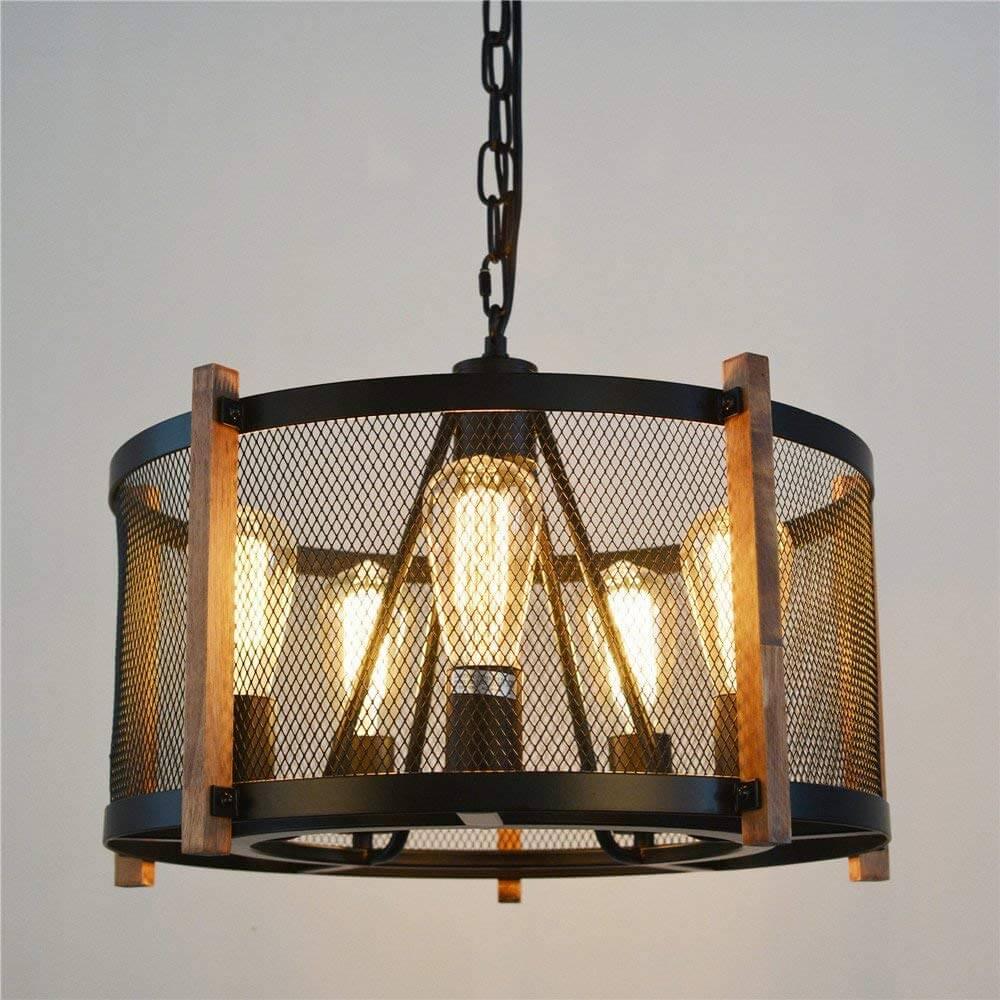 Round Farmhouse Style Pendant Light
