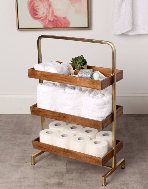 Rustic Caddy Style Bathroom Shelf