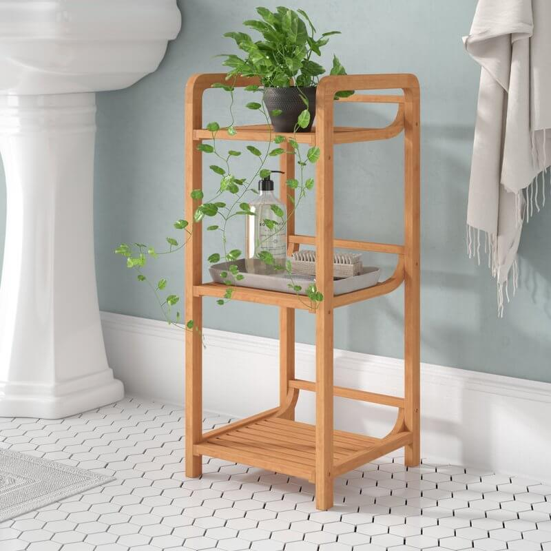 Small Bamboo Bathroom Shelf