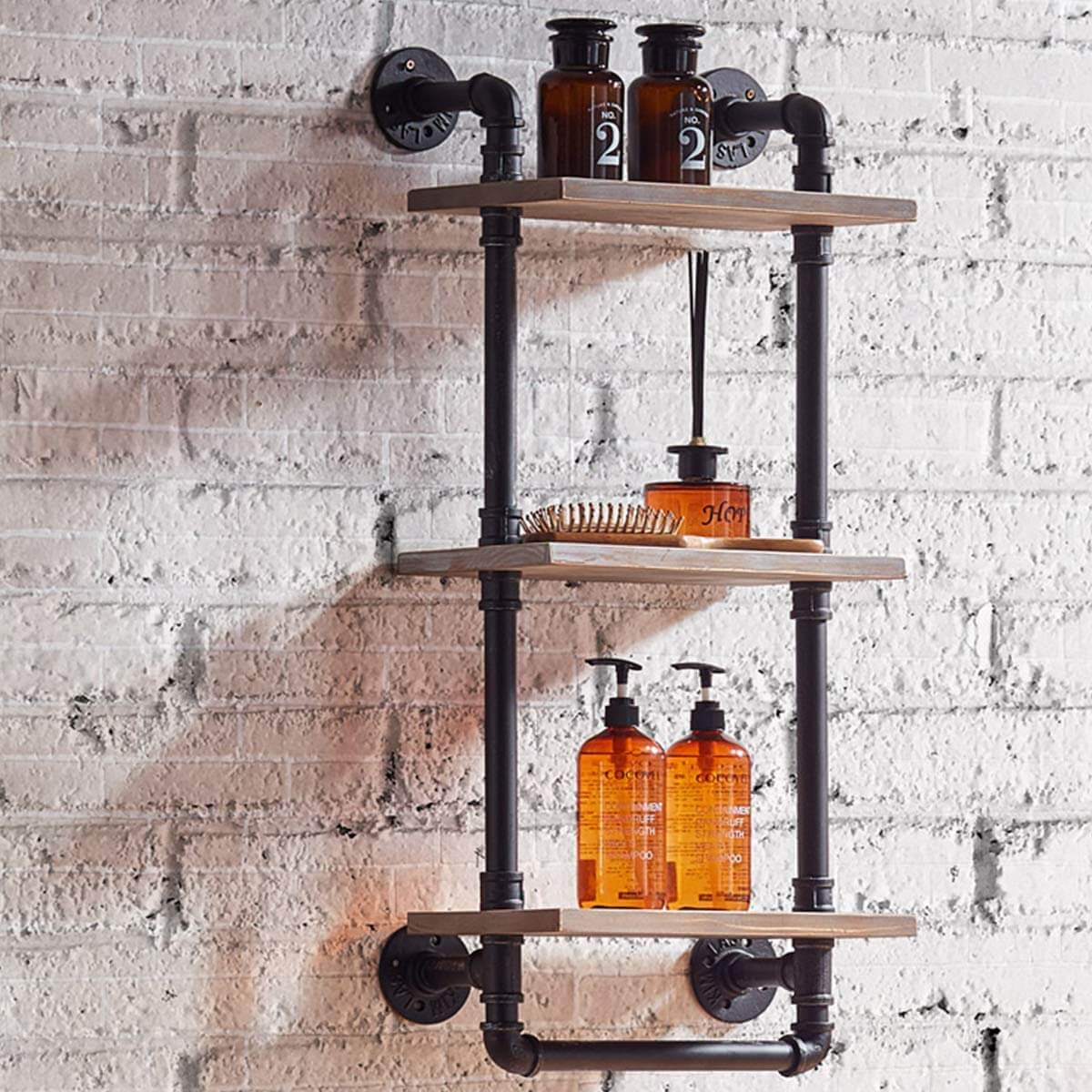 Three-Tier Pipe Shelf