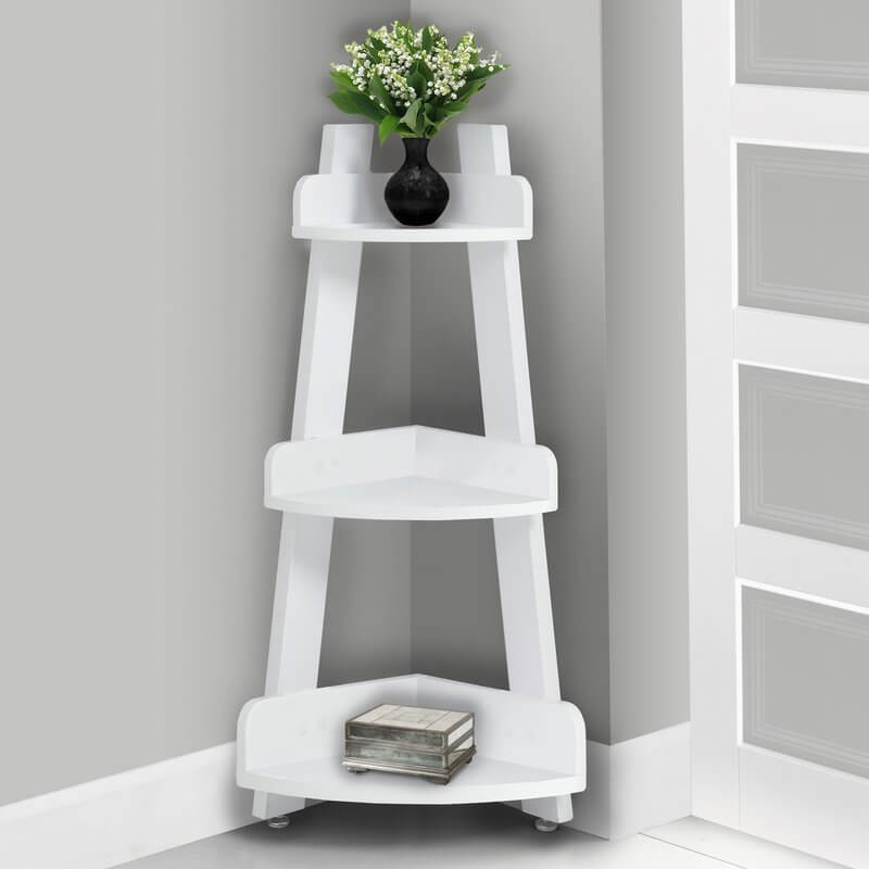 Three-Tiered Corner Bathroom Shelf