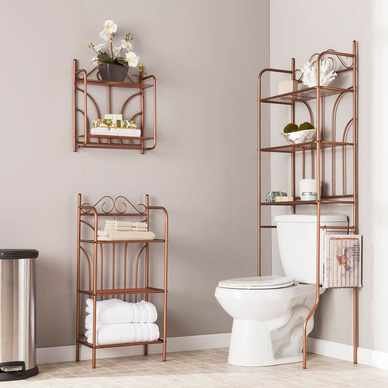 Traditional Bathroom Shelves