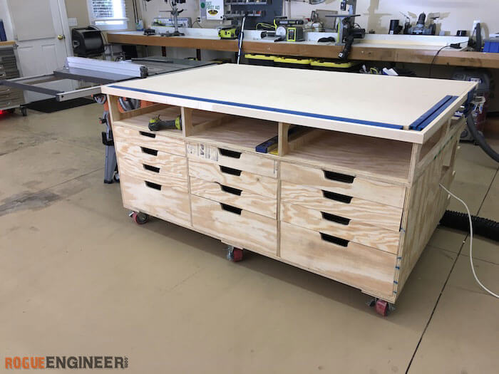 Image Of Flip Top Workbench Plans How to Build a SpaceSaving FlipTop