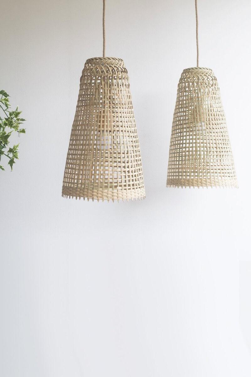 Upcycled Fishing Trap Pendant Light