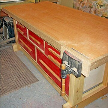 Workbench with Table Saw Outfeed