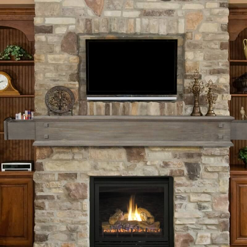 2 Drawer Fireplace Mantel