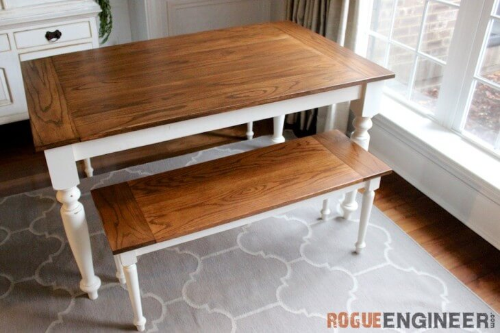 Elegant Oak Farmhouse Table Plans