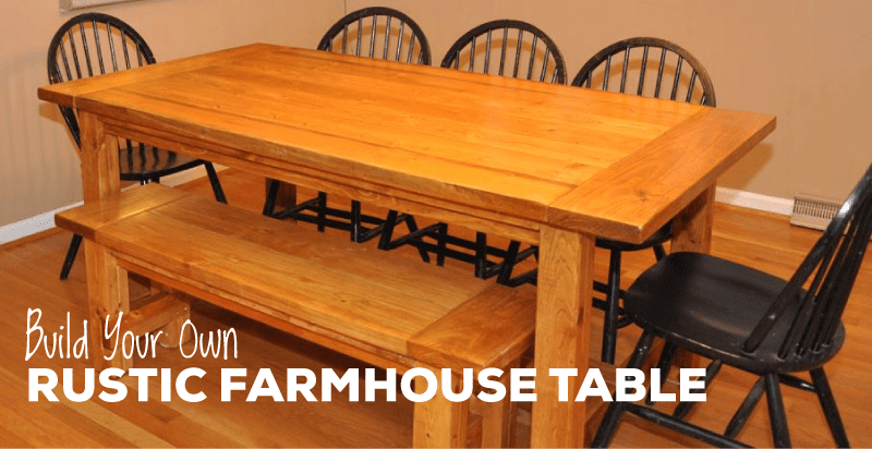 Farmhouse Table Plans With Detailed Instructions