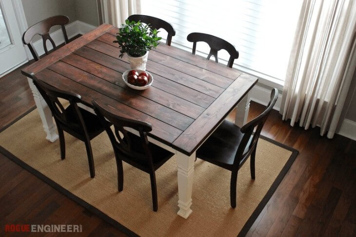 Farmhouse Table Plans With Distressed Legs