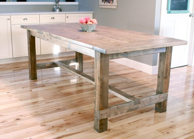 Farmhouse Table With Pocket Holes