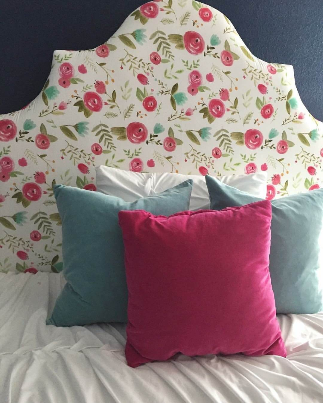 Floral Uphostered Headboard