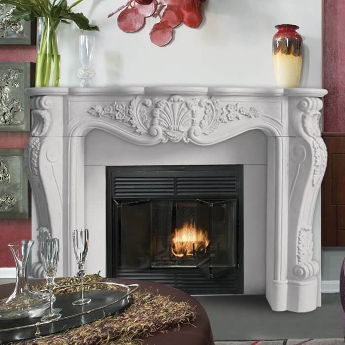 French-Style Fireplace Surround Mantel