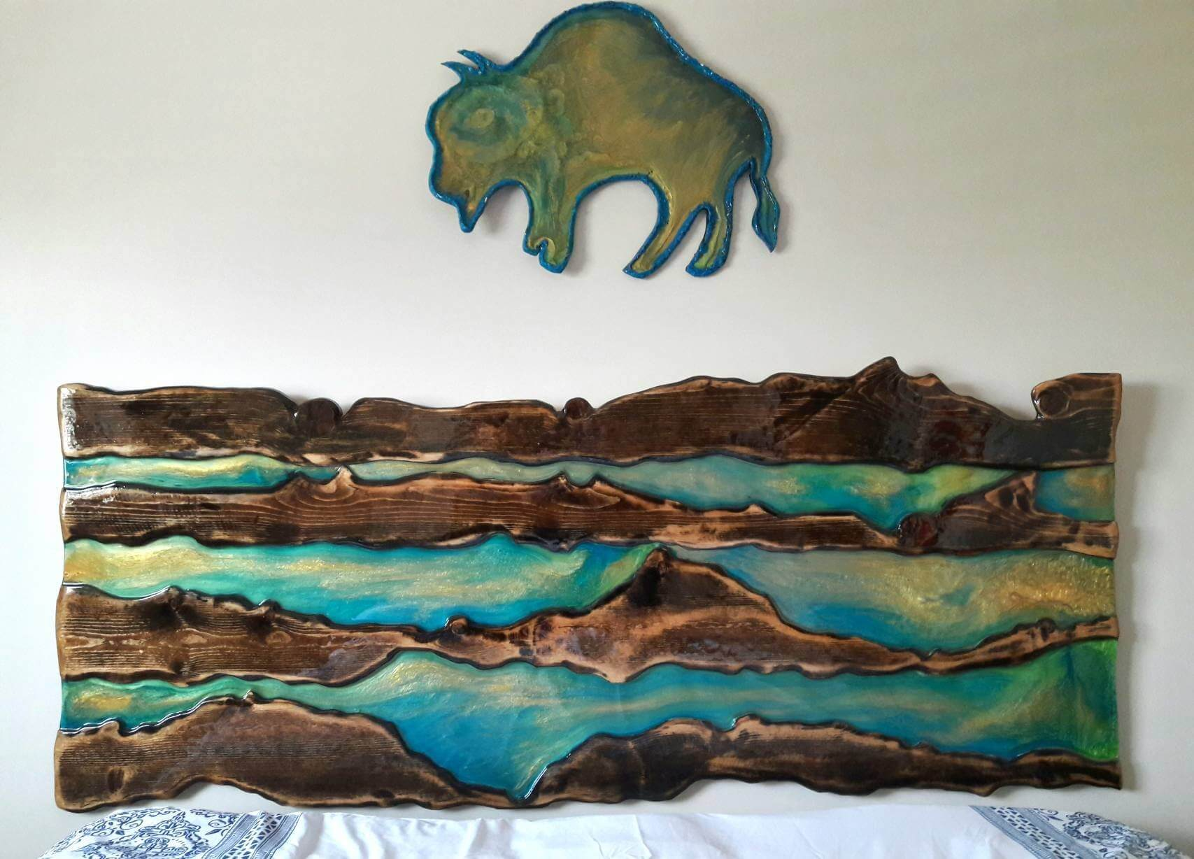Glass River Headboard