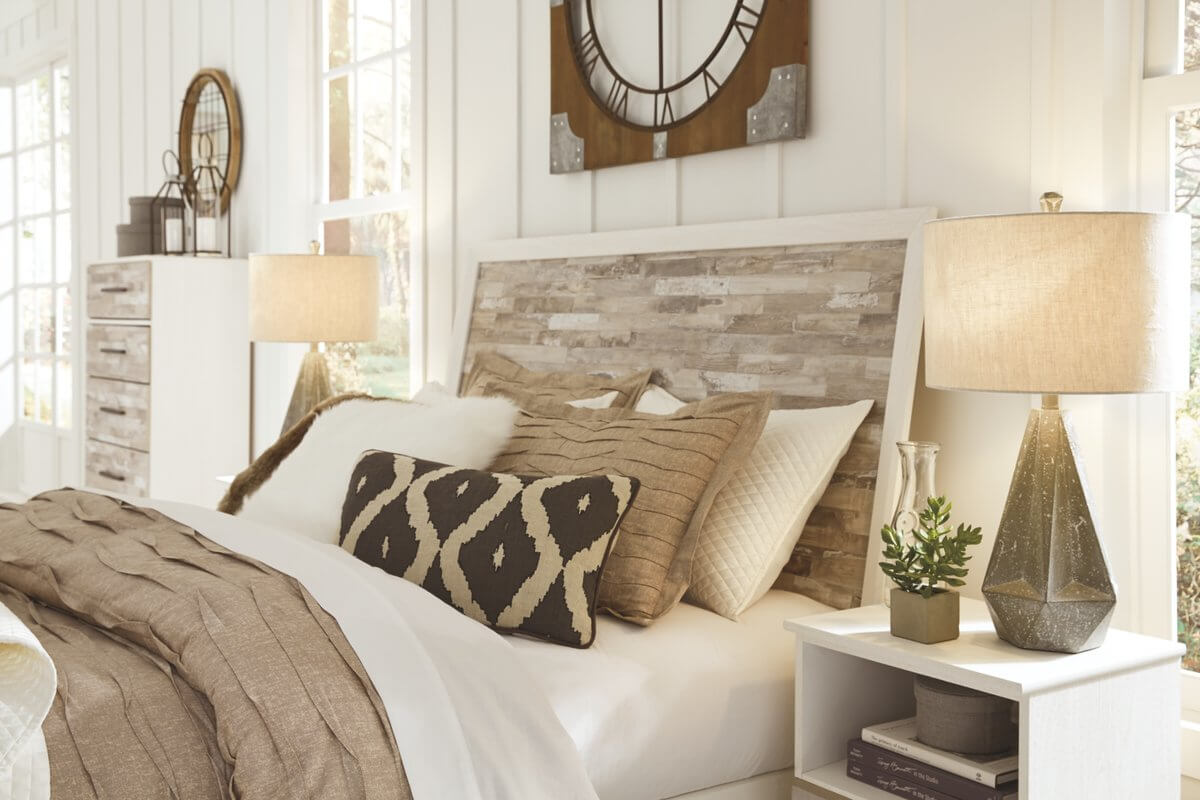 Grey Wood Grain Headboard