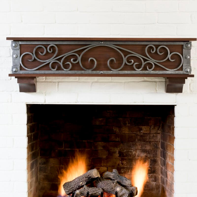 Hand Forged Steel Fireplace Mantel
