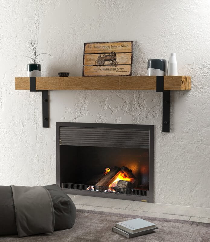 Industrial Minimalist Fireplace Mantel