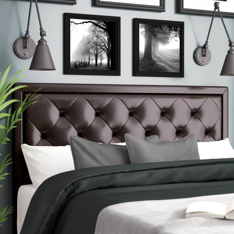 Leather Upholstered Headboard