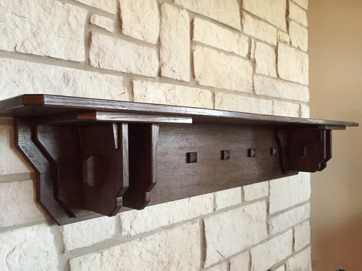 Mission Style Fireplace Mantel