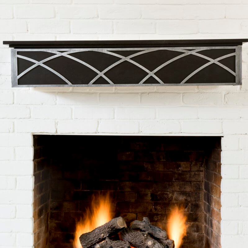 Ornate Steel Arched Fireplace Mantel
