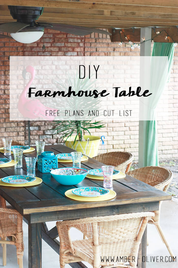Outdoor Farmhouse Table Plans