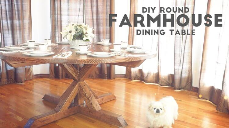 Round Farmhouse Table Plans