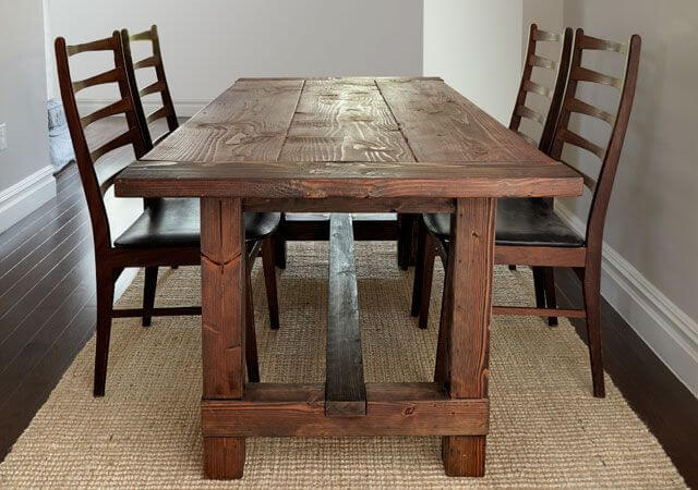 Rustic Farmhouse Table Plans