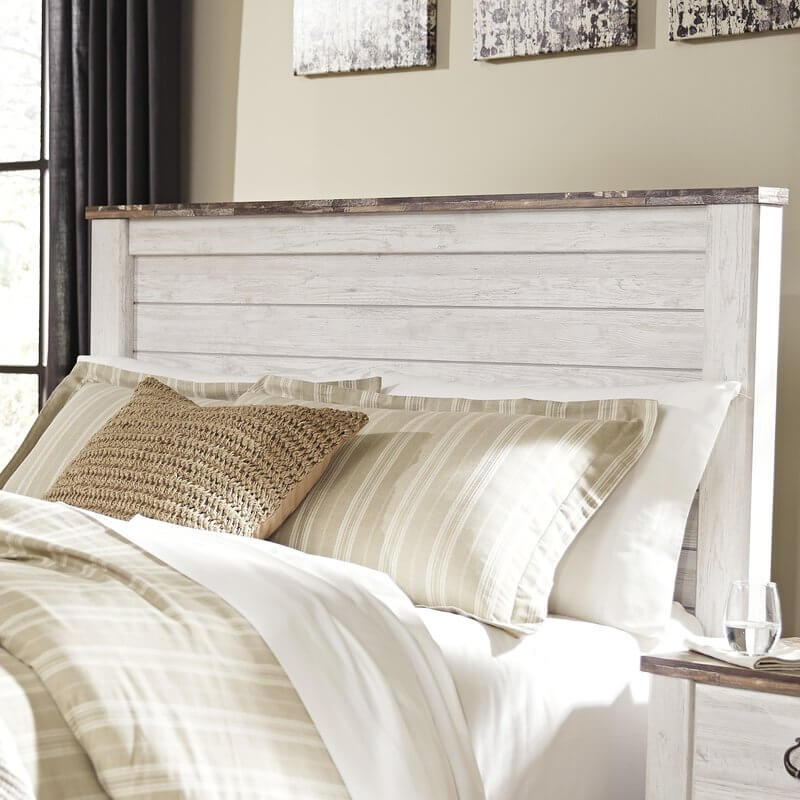 Rustic Wood Paneled Headboard