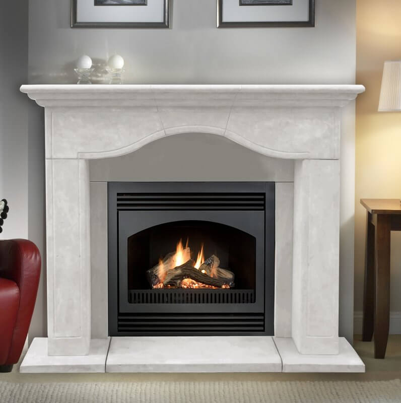 Stone Fireplace Surround Mantel