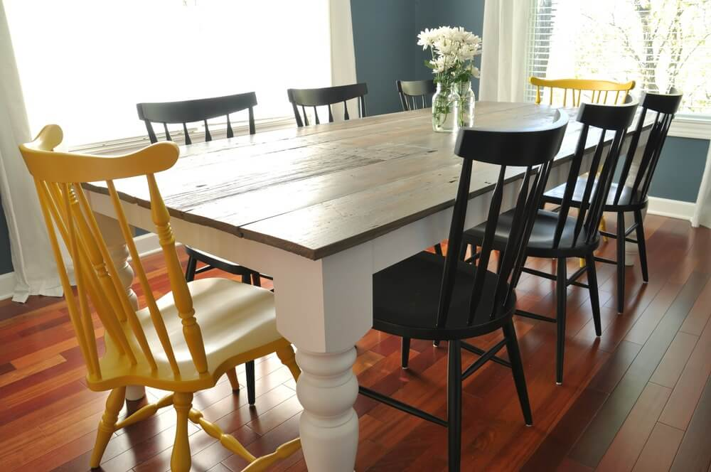 Traditional Farmhouse Dining Table Plans